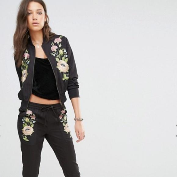 0252b86e708 Glamorous Jackets   Blazers - Glamorous Tall floral embroidered bomber  jacket